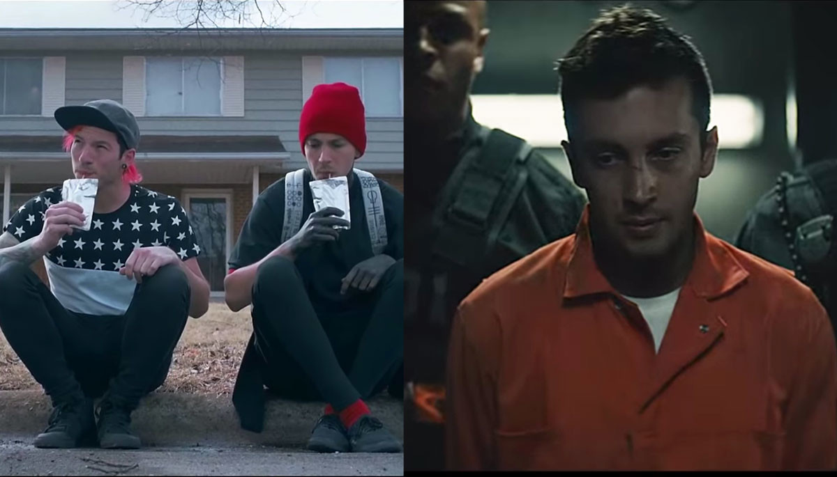 20 One Pilots Heathens twenty one pilots have two of the most-liked videos in
