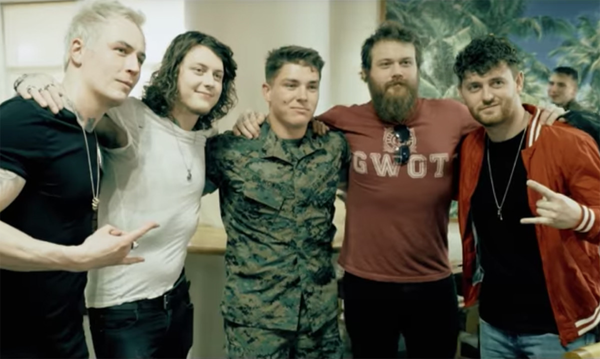 Hear asking alexandrias new acoustic version of someone somewhere back in march asking alexandria visited a us marine corps camp in okinawa japan m4hsunfo