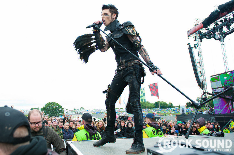 Andy biersack were making a much darker rock record maybe thats black veil brides performing at download festival 2012 m4hsunfo