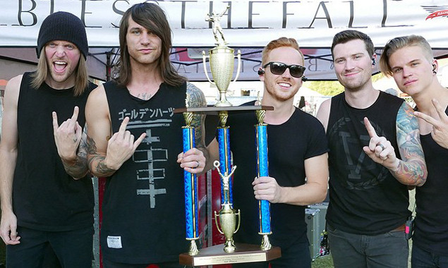 blessthefall win bowling trophy