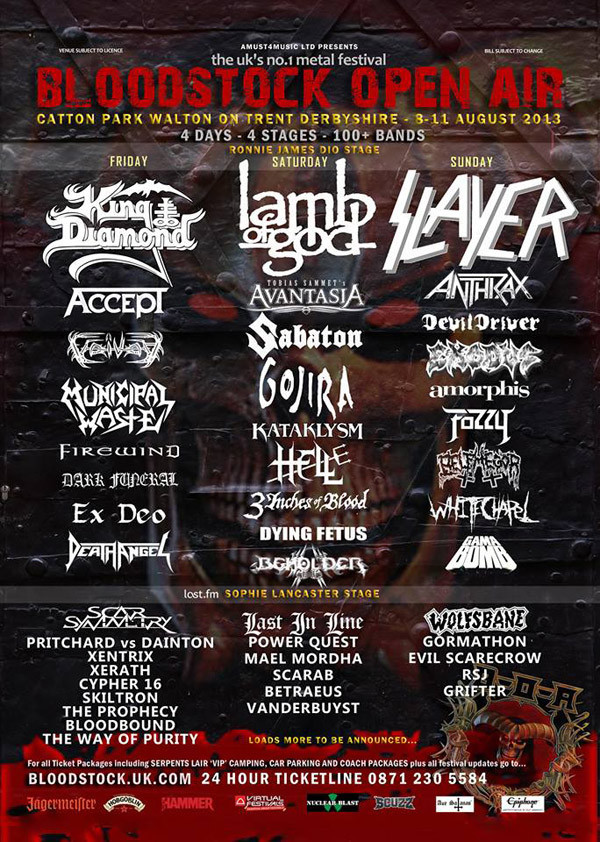 Bloodstock 2013 Reveals New Bands Added To The Line-Up!