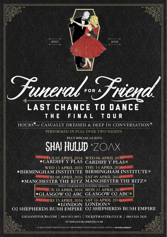 Funeral For A Friend Tour Dates