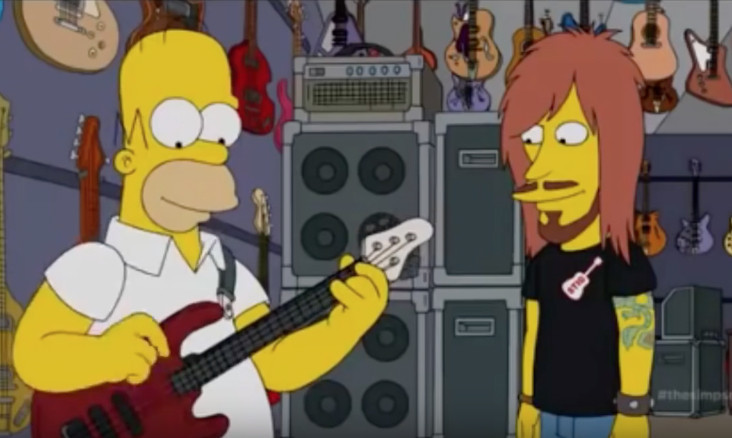 Watch homer simpson play some outrageously heavy metal news rock sound magazine - Guitare simpson ...