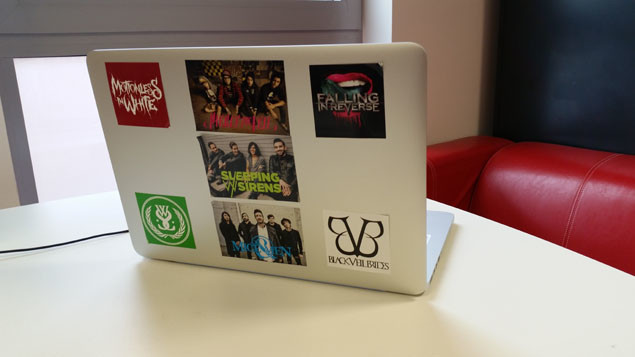 Take the old fashioned route and whack them on your laptop computer tablet so everyone can see how much you love bands i e a lot