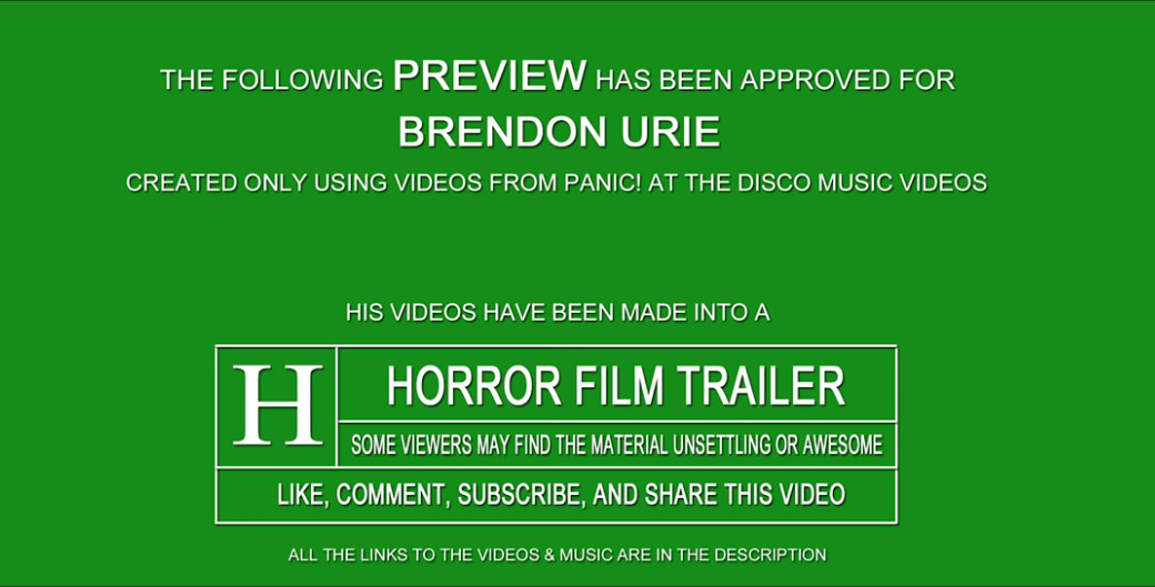 Watch A Horror Movie Trailer Made From Panic! At The Disco