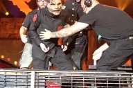 Video: Corey Taylor Falls Onstage