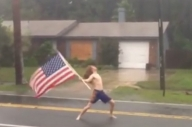 This Metalhead Moshing In A Hurricane Is Simultaneously Boneheaded And Ballsy