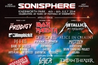 Sonisphere 2014 Stage Times: Sunday